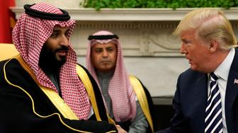 Saudi Crown Prince bin Salmon and Donald Trump in the Oval Office