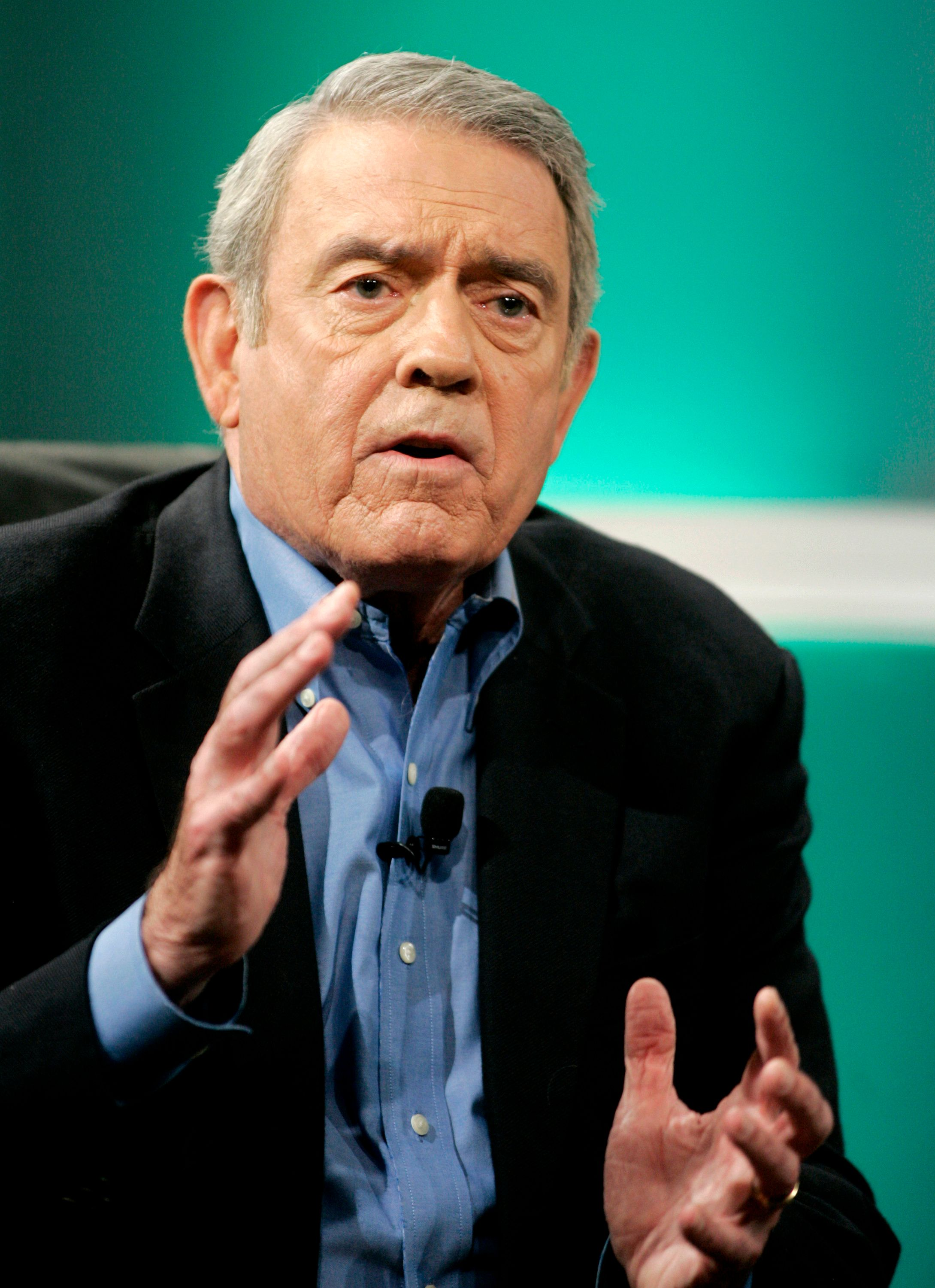 Former CBS news anchor Dan Rather answers questions at the Cable Television Critics Association press tour in Pasadena, California July 11, 2006 about his new program 'Dan Rather Presents' which premieres October 2006 on HDNet, the high-definition channel owned by billionaire entrepreneur Mark Cuban. REUTERS/Fred Prouser (UNITED STATES)
