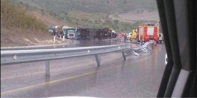 Accident d'un bus touristique algérien à Sidi Bouzid, plusieurs