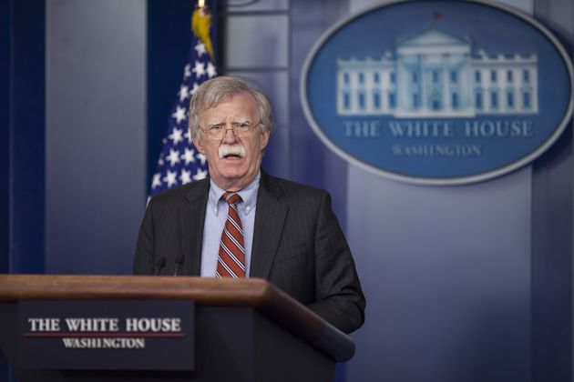 Le conseiller à la sécurité nationale de Donald Trump, John Bolton, lors d'une conférence...