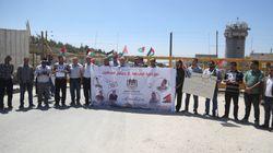 Ramallah: Sit-in de journalistes palestiniens en solidarité avec leurs collègues détenus par