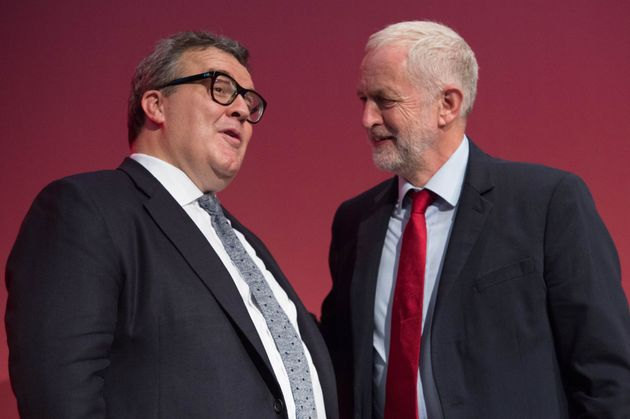 Deputy Labour leader Tom Watson with Labour leader Jeremy Corbyn at the Labour Party conference last year.