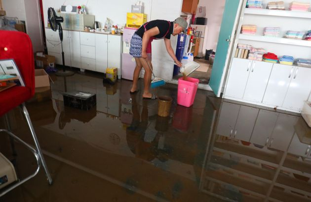 폭염 대신 폭우가 쏟아지고 있는 강릉의 현재