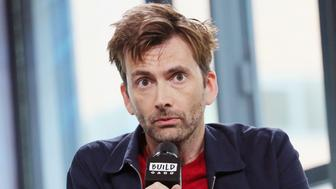 NEW YORK, NY - AUGUST 08:  Actor, David Tennant, visits Build to discuss Disney XD's Reboot Of 'Duck Tales' at Build Studio on August 8, 2017 in New York City.  (Photo by Mireya Acierto/FilmMagic)