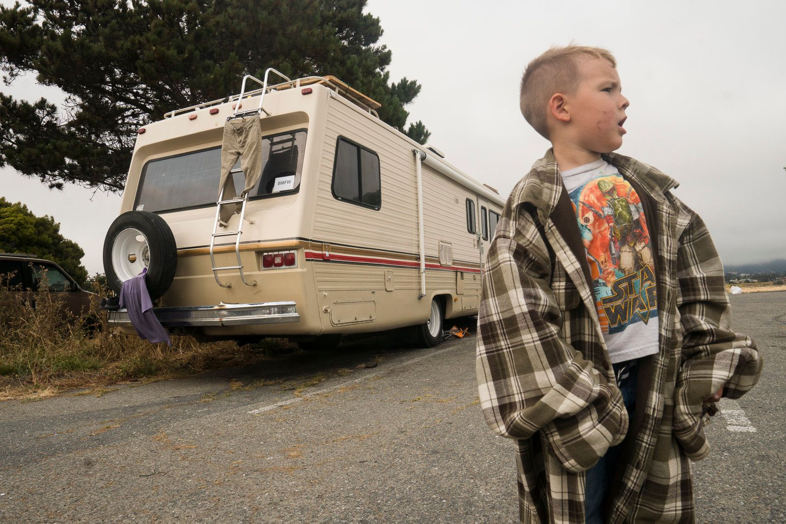 Thomas Bockover The Bockover family moved into an RV after their rent price increased