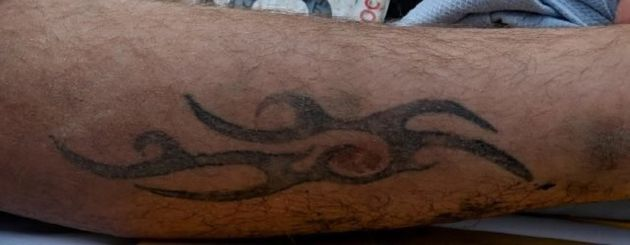 He also has this tattoo on his