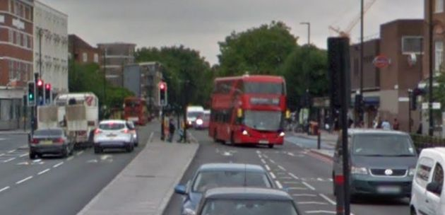 The woman was struck and died at the scene in Clapham Road, Stockwell (file
