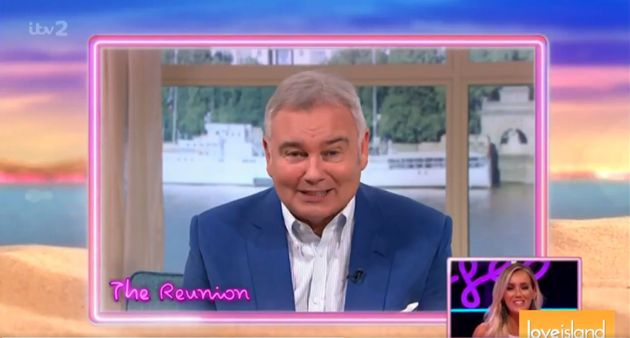 Eamonn Holmes recorded a message for Love Island's Laura