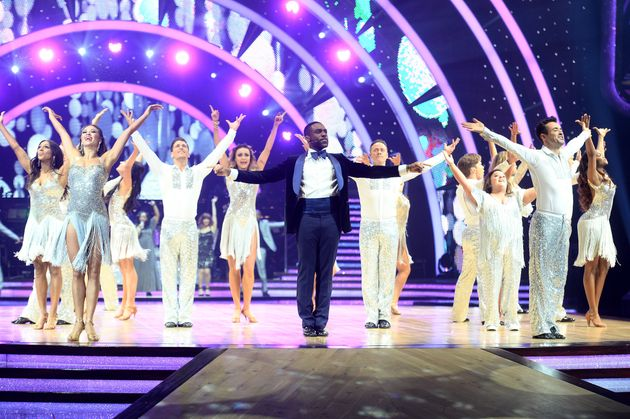 Former champion Ore Oduba and the cast of the most recent 'Strictly Live!'