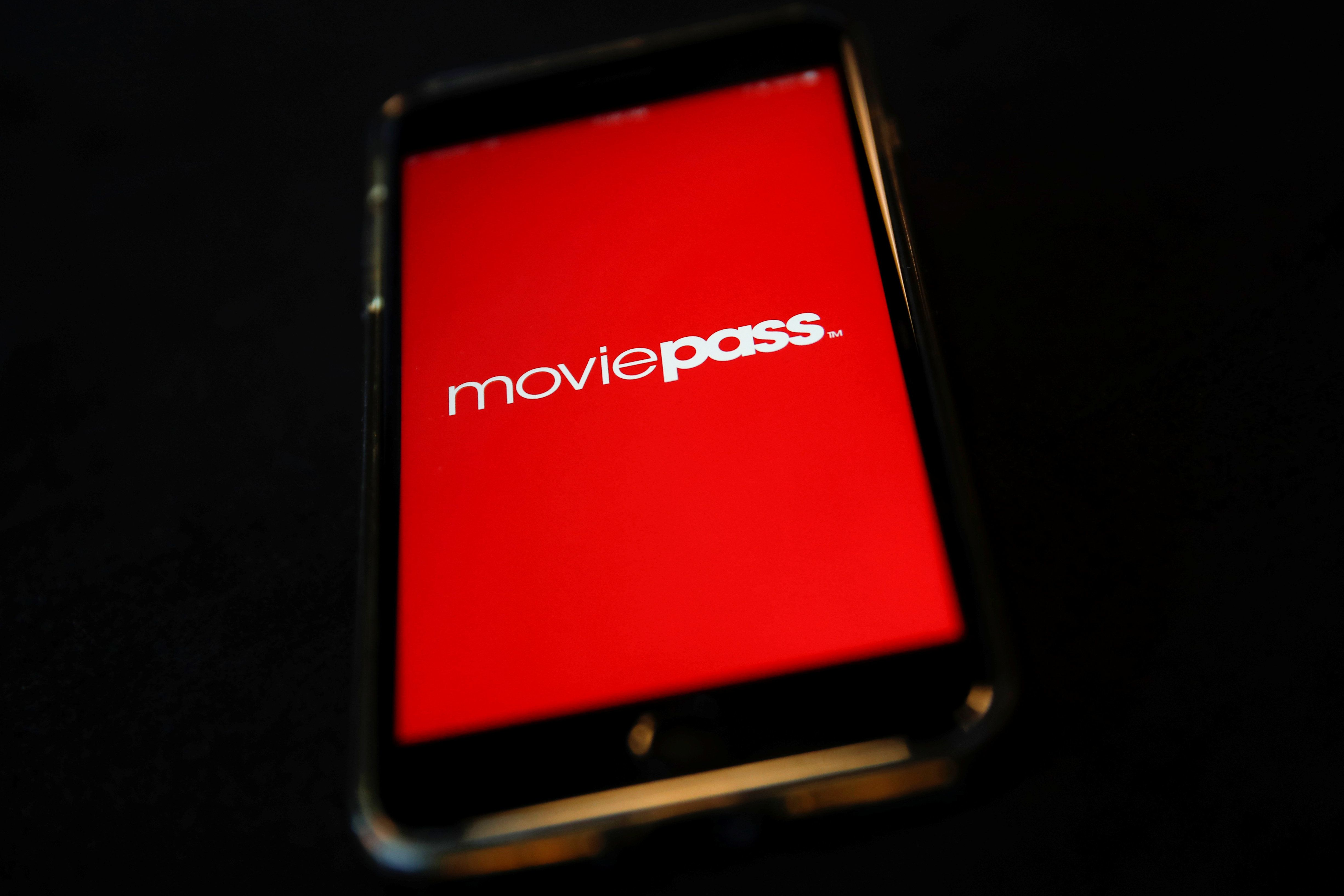 MoviePass, a U.S. movie ticket subscription app, is seen on a mobile phone in this photo illustration in New York, U.S., May 15, 2018. REUTERS/Mike Segar/Illustration