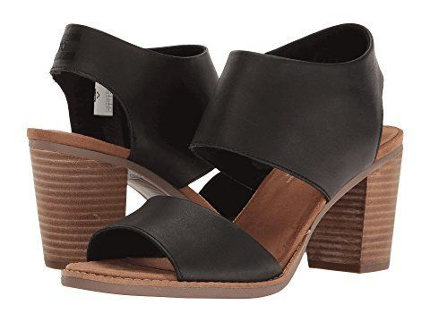 """<strong>Sizes</strong>: 5 - 12<br><a href=""""https://www.zappos.com/p/toms-majorca-cutout-sandal-black-leather/product/8803851/"""