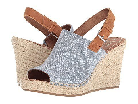 """<strong>Sizes</strong>: 5 - 12<br><a href=""""https://www.zappos.com/p/toms-monica-blue-chambray-leather/product/8983531/color/7"""