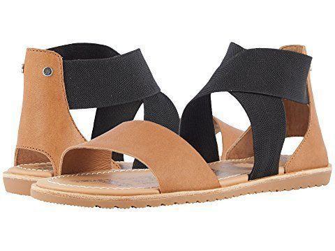 """<strong>Sizes</strong>: 5 - 9.5<br><a href=""""https://www.zappos.com/p/sorel-ella-sandal-camel-brown/product/8975318/color/3504"""