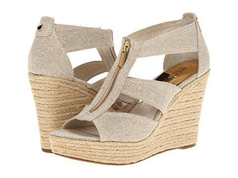 """<strong>Sizes</strong>: 7 - 11<br><a href=""""https://www.zappos.com/p/michael-michael-kors-damita-wedge-natural-hemp/product/79"""
