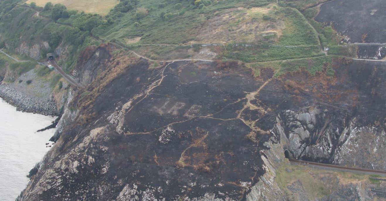 Οι φωτιές στην Ιρλανδία αποκάλυψαν ένα κρυμμένο μήνυμα του Β' Παγκοσμίου