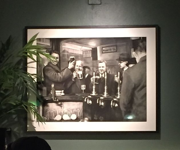 The new illustrated version of the historic photograph on display at Bar