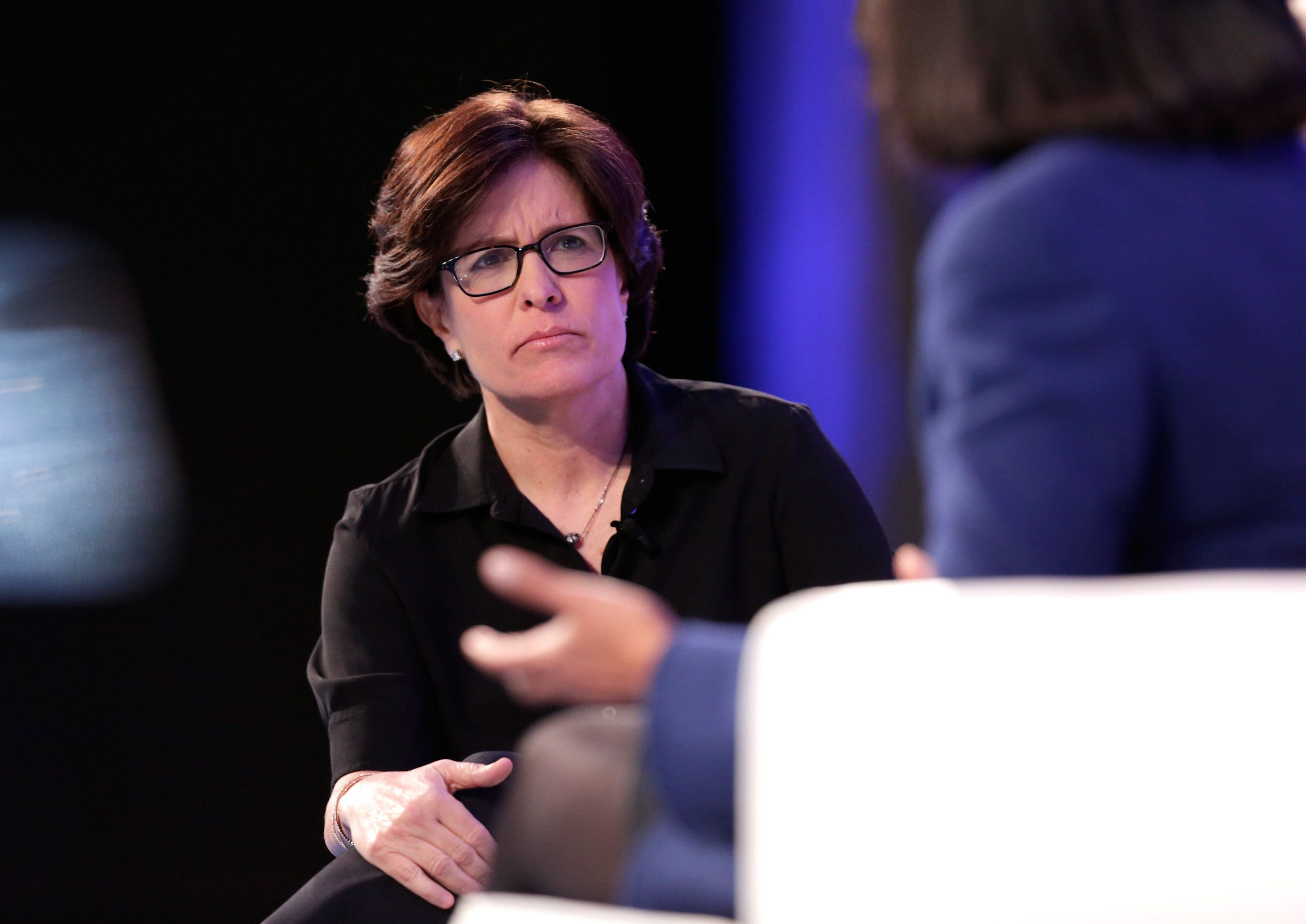 SAN JOSE, CA - FEBRUARY 01:  Journalist Kara Swisher speaks at the Watermark Conference for Women at San Jose Convention Center on February 1, 2017 in San Jose, California.  (Photo by Marla Aufmuth/Getty Images for Watermark Conference for Women  )