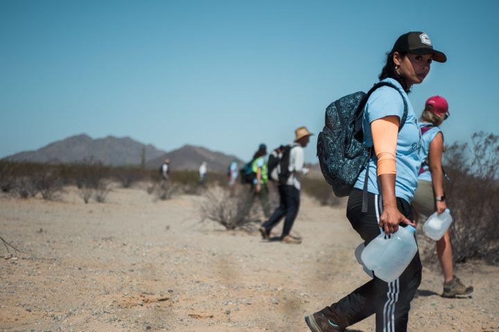 Activists left 125 gallons of water for migrants traveling through the desert.
