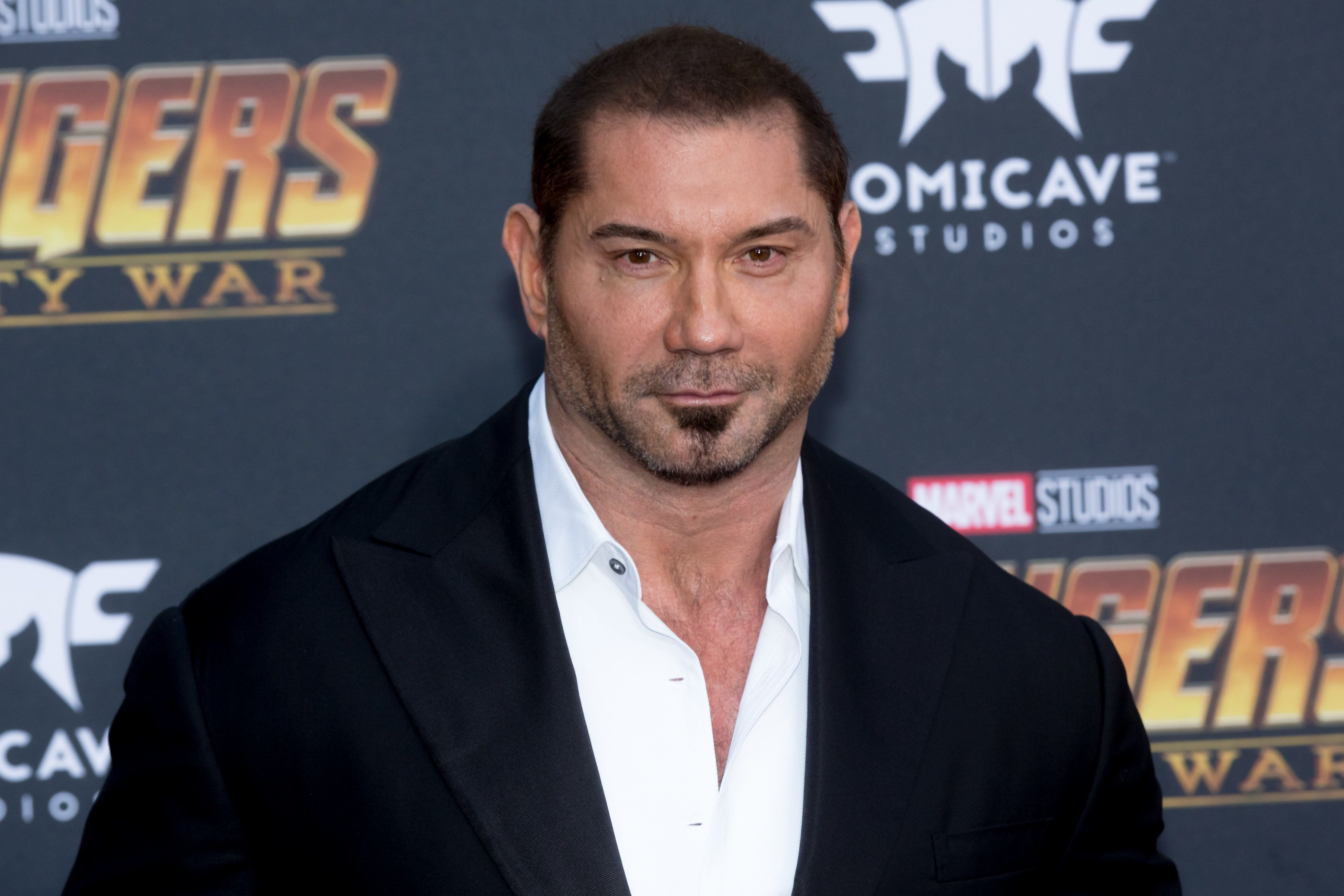 LOS ANGELES, CA - APRIL 23:  Dave Bautista attends the 'Avengers: Infinity War' World Premiere on April 23, 2018 in Los Angeles, California.  (Photo by Greg Doherty/Patrick McMullan via Getty Images)