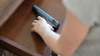 Child found pistol in drawer at home.