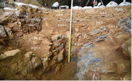 발굴조사 현장 - 구석기 시대 지층