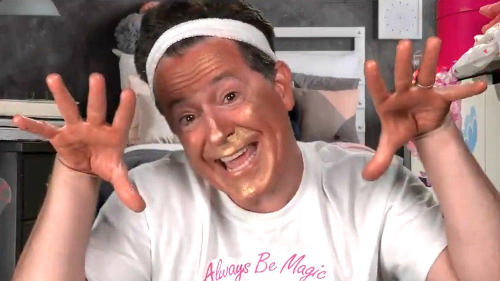 Stephen Colbert Mocks Trump's New Look With Brutal Presidential Makeup