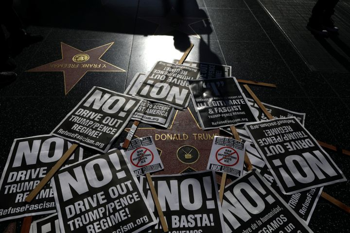 The star has been the site of many protests since Trump was elected.