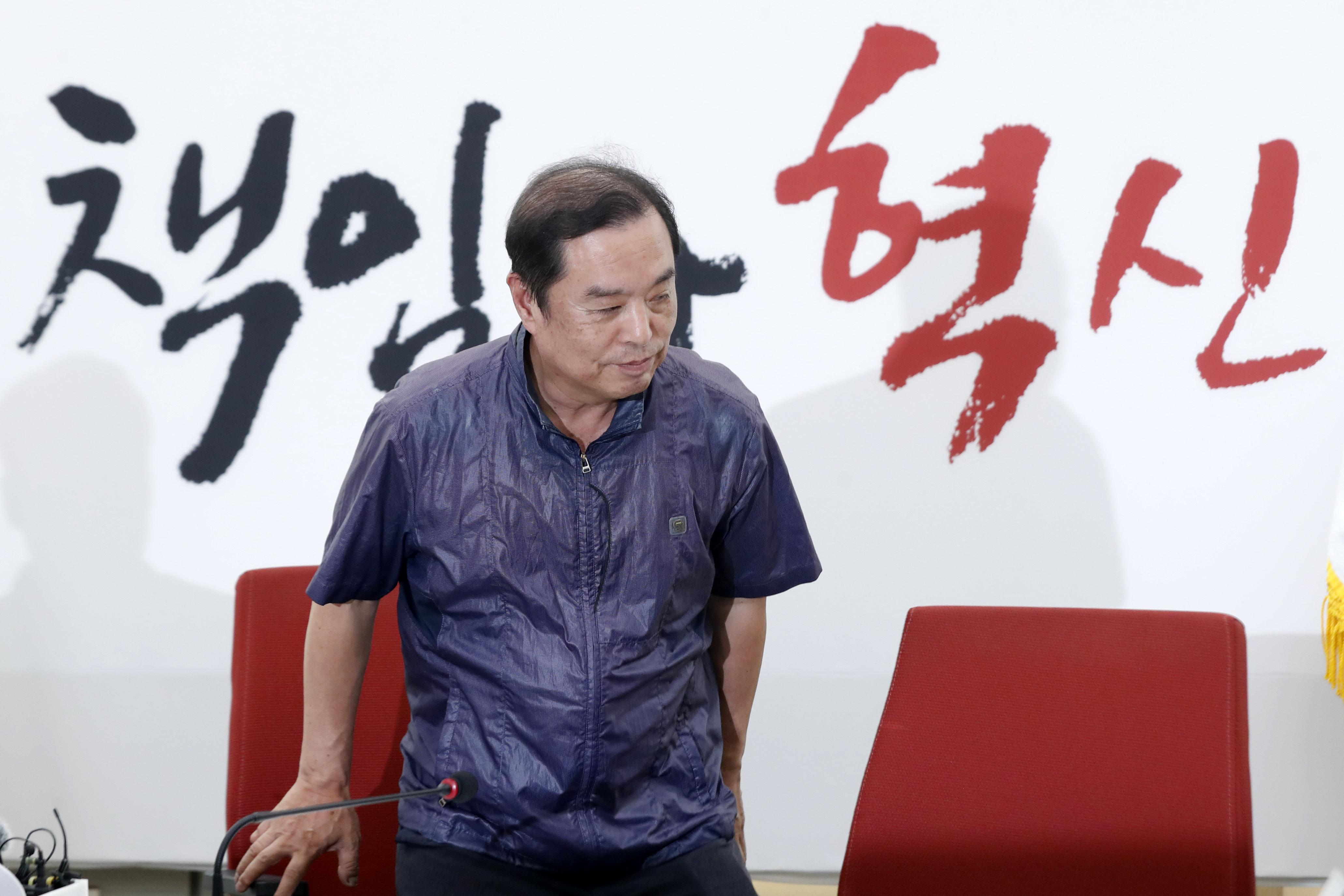 김병준이 솔솔 불거지는 자신의 대권 도전설에 대해 한