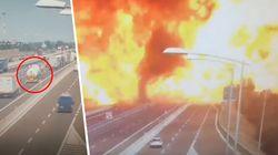 Bologna: Aufnahmen zeigen die letzten Sekunden vor der