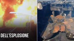 이탈리아 고속도로에서 대형 폭발사고가