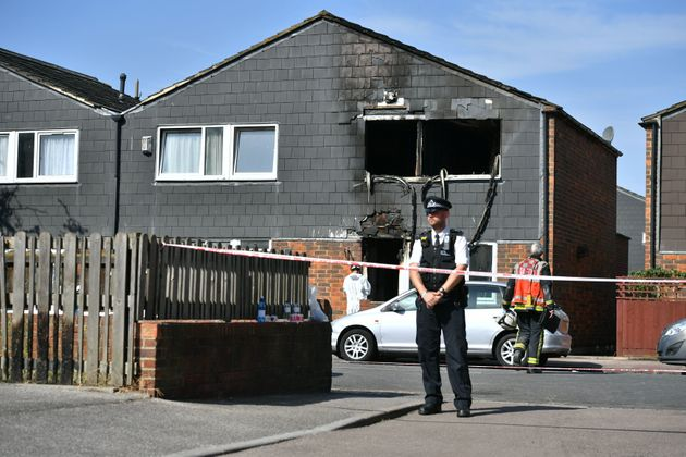The blaze began at a property in Adolphus Street,