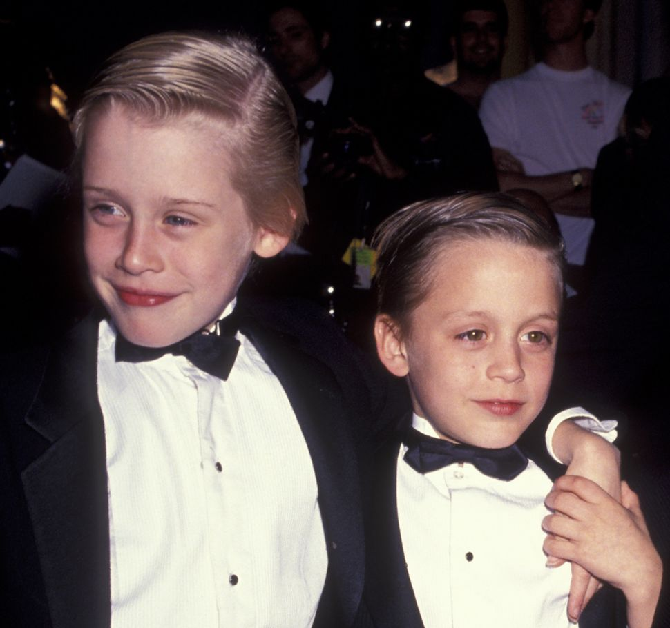 Macaulay and Kieran Culkin at the fifth annual American Comedy Awards back in 1991, just months after the release of the bloc
