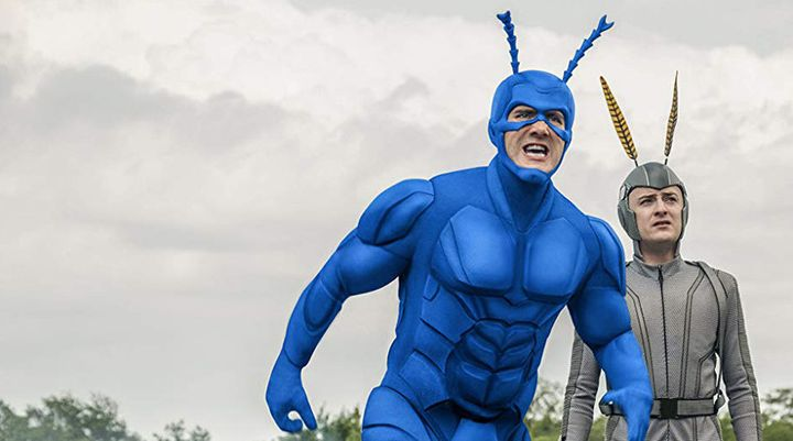 "Season 1 of ""The Tick"" on Amazon Prime."