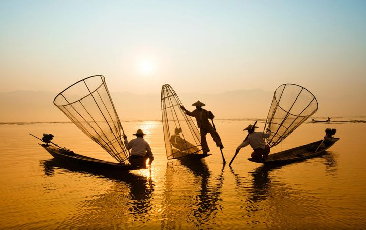 Fishermen in Vietnam.
