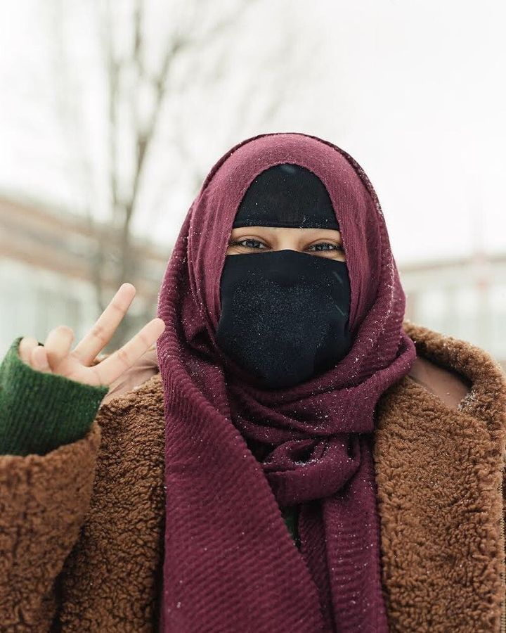 """Aima as part of Charlotte Bibby's Reclaiming """"Muslim"""" Project"""