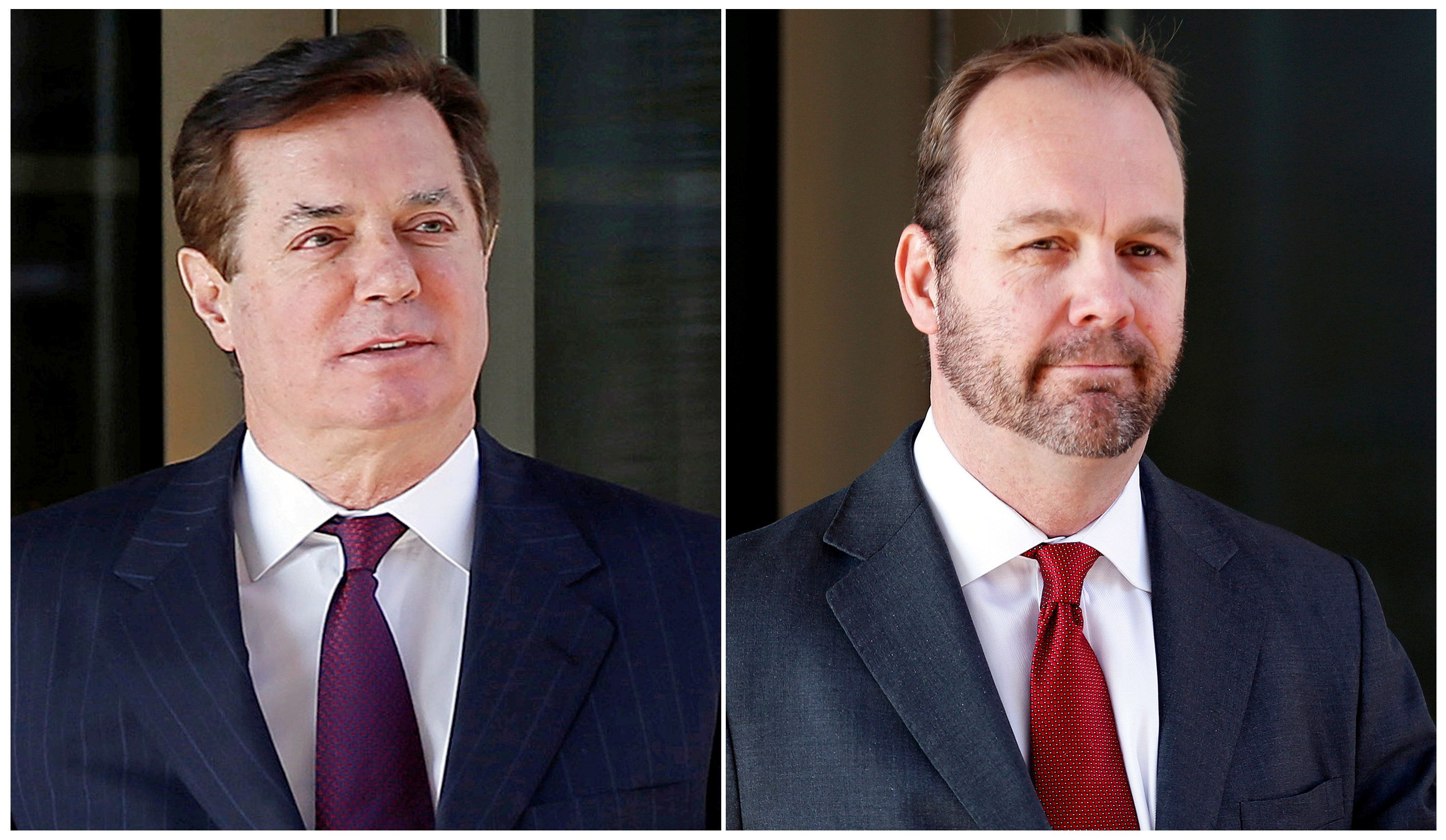 In testimony Tuesday, Rick Gates (right) detailed various schemes he engaged in while working for Paul Manafort (left).