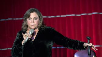LONDON, ENGLAND - OCTOBER 31:  Kathleen Turner performs her one-woman show at Brasserie Zedel on October 31, 2017 in London, England.  (Photo by John Phillips/Getty Images)