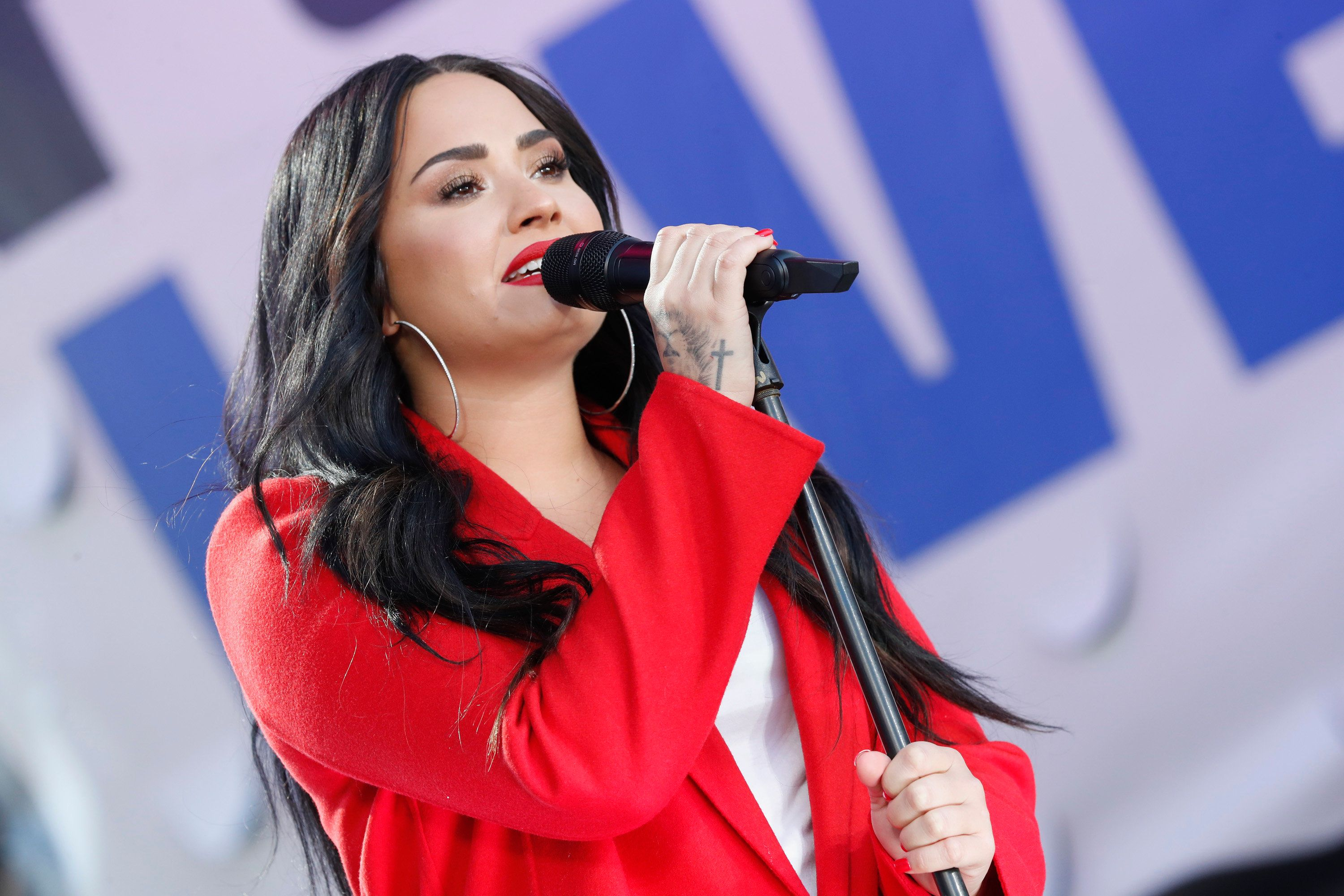 Demi Lovato performs at March for Our Lives on March 24in Washington, D.C. The artist has long been candid about her ex