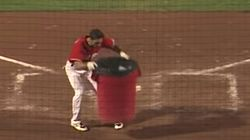 Baseball Player Literally Trashes Umpire's