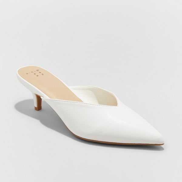 "<strong><a href=""https://www.target.com/p/women-s-aleksa-low-vamp-kitten-heeled-mules-a-new-day-153-white-6/-/A-53080657"" tar"