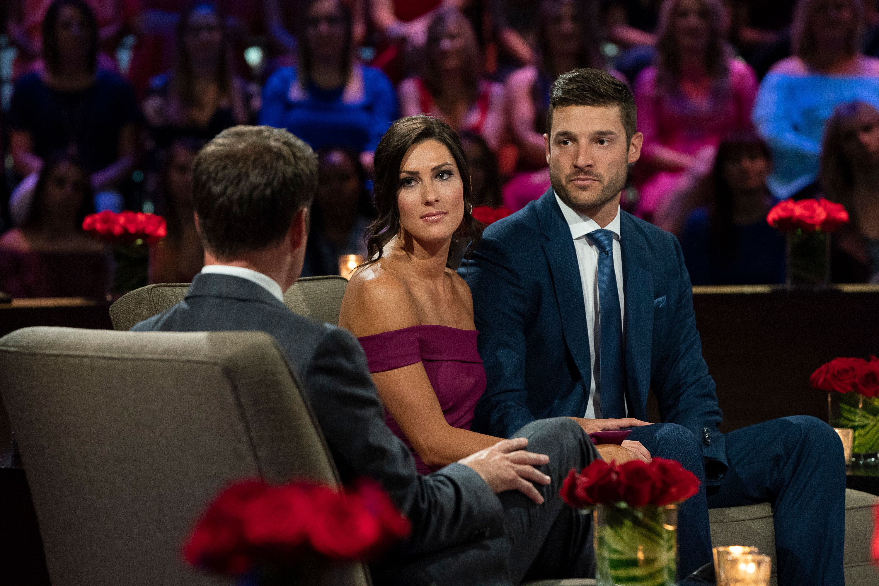 THE BACHELORETTE - 'Episode 1410' - Season Finale - After surviving shocking twists and turns, and a journey filled with laughter, tears, love and controversy, Becca heads to the Maldives with her final two bachelors: Blake and Garrett. She can envision a future with both men, but time is running out. Then later, Becca will be in studio with Blake and Garrett to discuss the stunning outcome and the heartwrenching decisions that changed all of their lives forever, on 'The Bachelorette: The Three-Hour Live Finale,' airing MONDAY, AUG. 6 (8:00-11:00 p.m. EDT), on The ABC Television Network. (Paul Hebert via Getty Images) BECCA KUFRIN, GARRETT