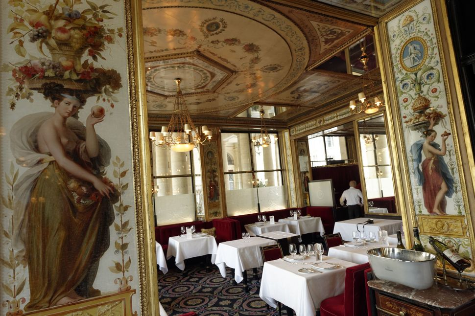 """During their time in Paris, Astrid and Charlie dined at <a href=""""http://www.grand-vefour.com/en/"""" target=""""_blank"""">Le Grand V&"""