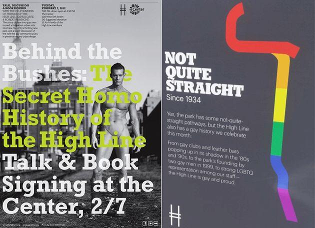 그림8. '하이라인 속 게이의 역사(링크)' 프로그램 홍보물 (사진 출처 : High Line Nudes Hardcover 2016 by Kevin McDermott, Joshua