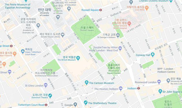 [그림 8] 런던의 대표적인 Cruising 장소이자, 역사적 복원의 대상이었던 Bloomsbury Square와 Russell