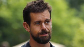 Jack Dorsey, interim CEO of Twitter and CEO of Square, goes for a walk on the first day of the annual Allen and Co. media conference in Sun Valley, Idaho July 8, 2015.  REUTERS/Mike Blake