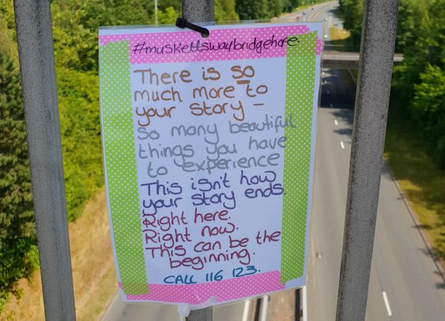 Worcestershire Council 'Tears Down Notes Of Hope' Tied To Bridge By Mental Health