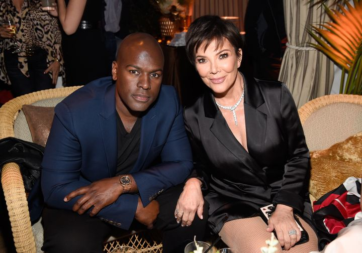 """Kris Jenner and Corey Gamble at the """"American Woman"""" premiere on May 31 in Los Angeles."""