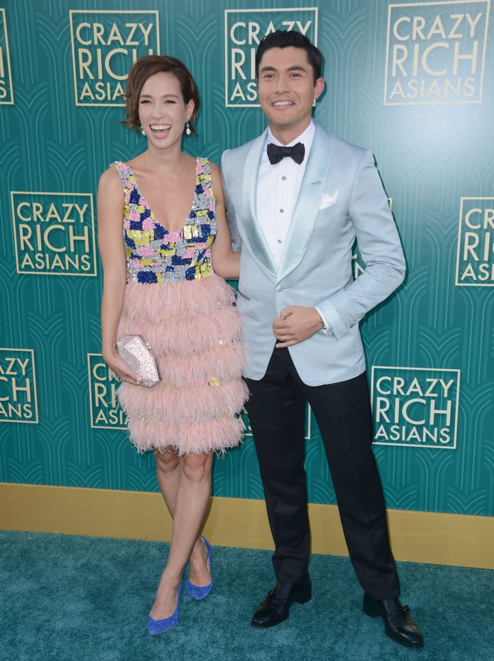 Actor Henry Golding and wife Liv Lo