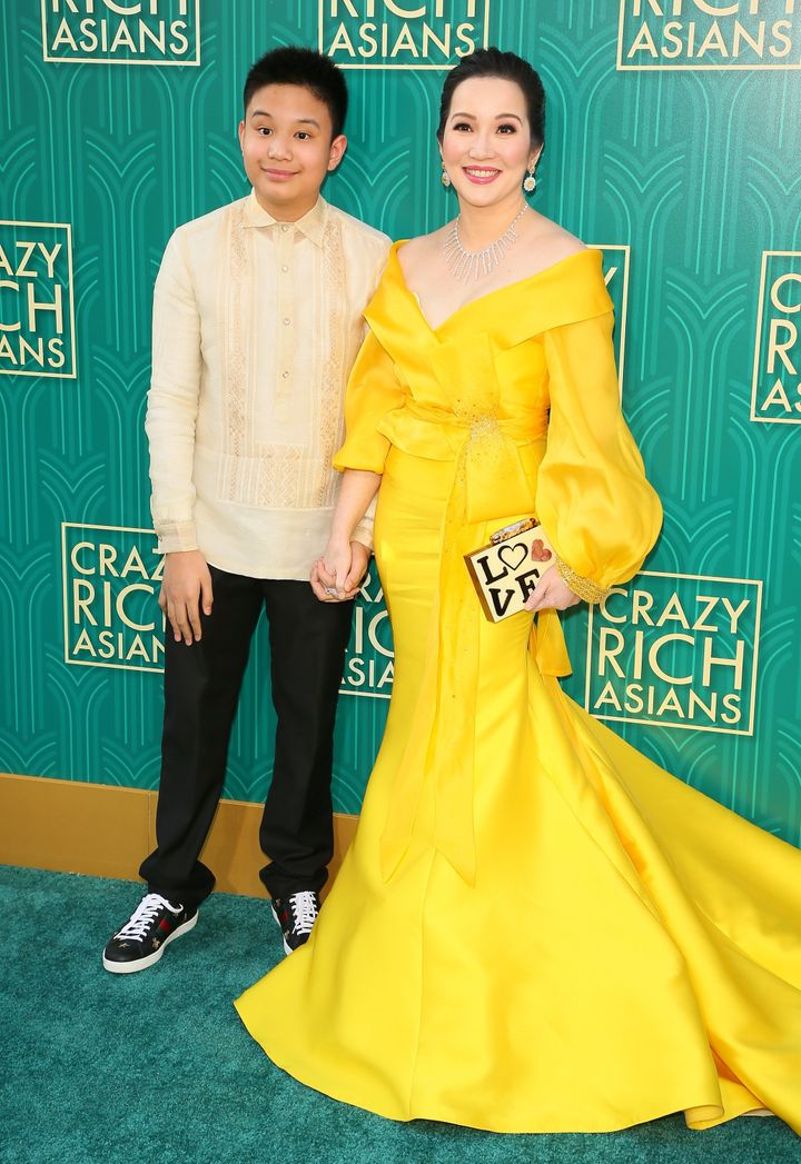 Actress Kris Aquino (right) and her son actor Bimby Aquino Yap