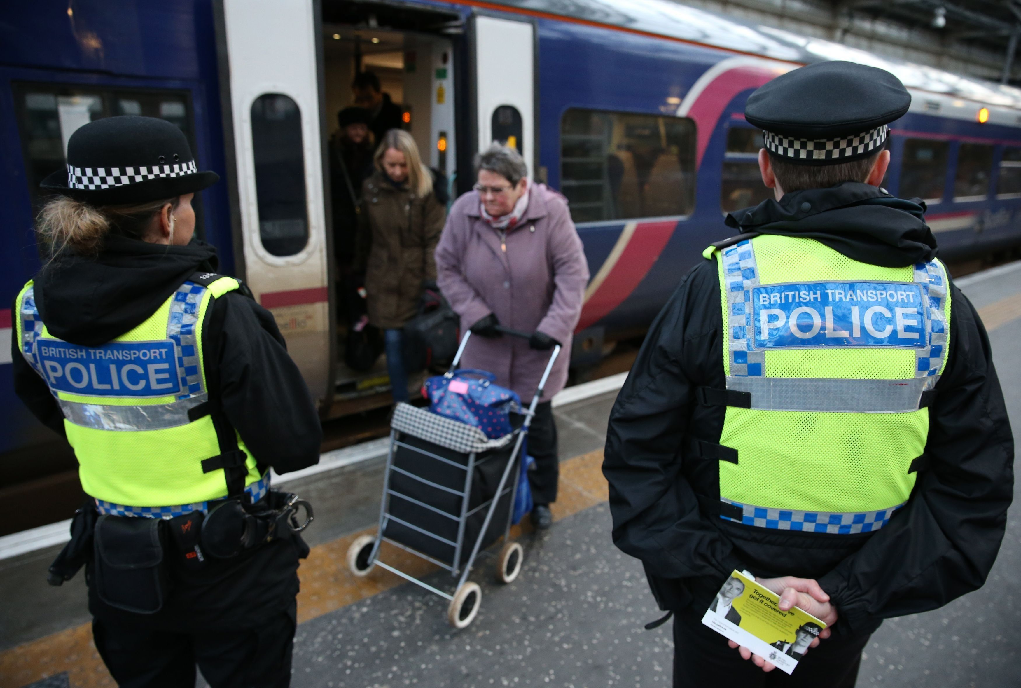 British Transport Police are searching for witnesses after a man groped two women on trains from Manchester